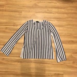 Ann Taylor striped sweater with bell sleeves